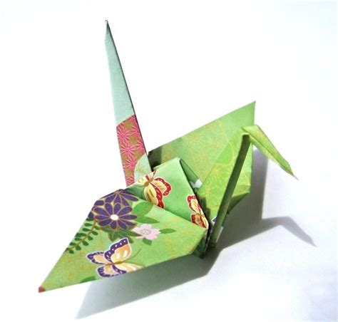 Japanese Origami Crane - japanese paper cranes traditional kimono pattern