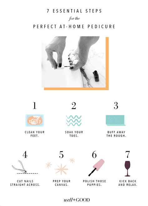 Steps To A Great Home Pedicure by At Home Pedicure Tips Well