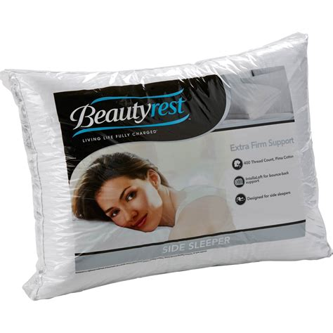 Firm Pillows For Side Sleepers by Beautyrest Firm Density Side Sleeper Pillow Serta