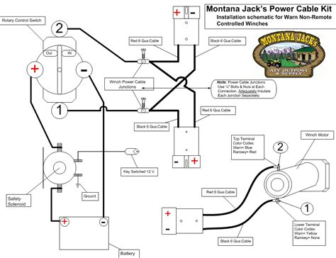 warn rt25 winch wiring diagram free wiring