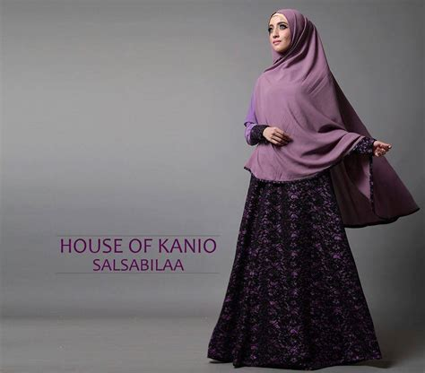 salsabila violet baju muslim gamis modern