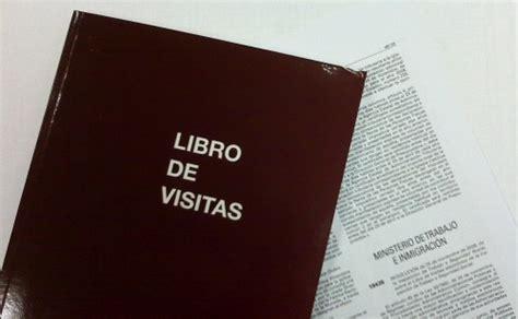 libro visitor the how and inspecci 243 n de trabajo y el libro de visitas emprender f 225 cil