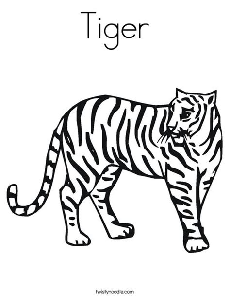 tiger t coloring page tiger coloring page twisty noodle