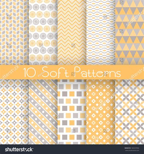 pattern fill texture 10 soft different vector seamless patterns stock vector