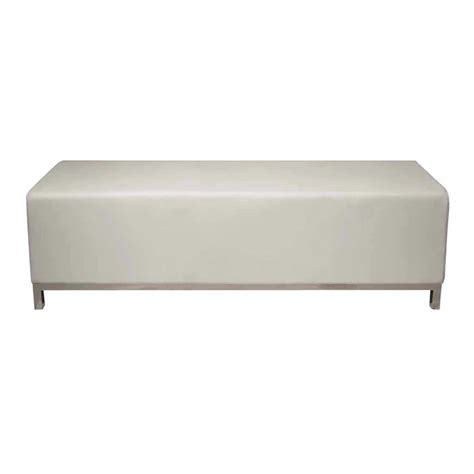 white bench ottoman bench white