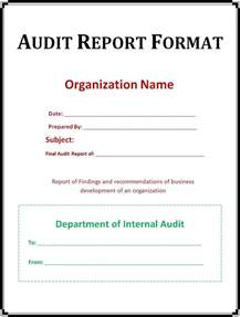 Template For Audit Report Audit Report Template Free Printable Word Templates