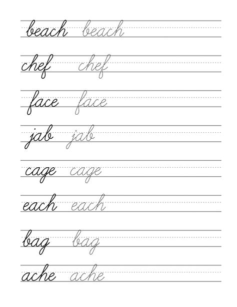 printable writing paper for beginners d nealian cursive handwriting worksheets photos mindgearlabs