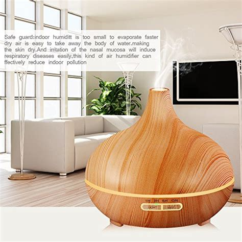 H02 Essential Aromatherapy Diffuser 7 Colors Led 300ml kbaybo 300ml essential diffuser aroma diffuser