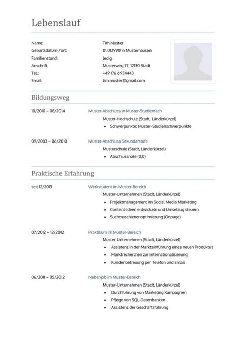 Modern Vorlage 31 Best Images About Lebenslauf Vorlagen Muster On Free Cv Template Classic And A