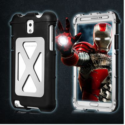 Flip Shell Uma Samsung Galaxy A7 Silver armor king aluminum metal brushed stainless steel for