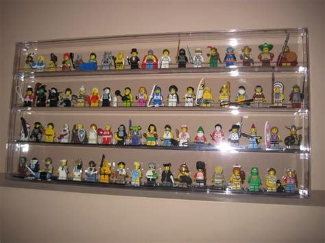Rak Lego Minifig Isi 18 new clear minifigure lego wall display holds 72 w