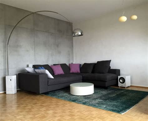 wand betonoptik wohnideen wandgestaltung maler sicht betonoptik und