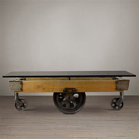 factory cart coffee table s factory cart coffee table shoptv