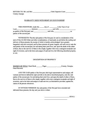 joint tenancy agreement template joint tenancy with right of survivorship deed template
