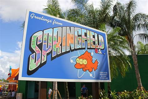 theme park on the simpsons simpsons theme park attraction complete l7 world