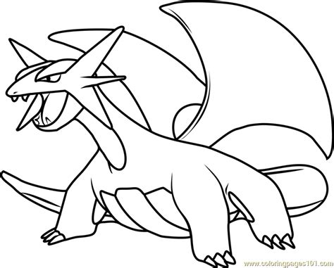 pokemon coloring pages mega salamence salamence pokemon coloring page free pok 233 mon coloring