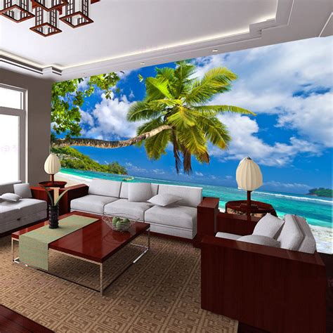 wall scenery murals seaside scenery wallpaper murals decorate the living room bedroom sofa tv background wall