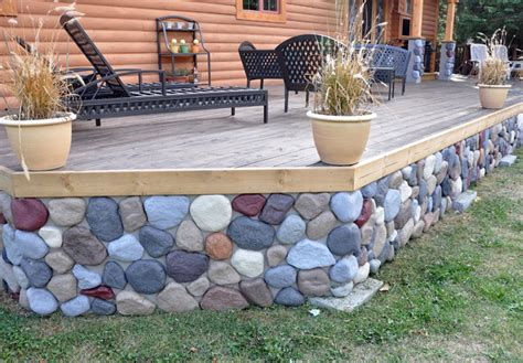 ideas skirting faux rock a mobile homes mobile homes ideas