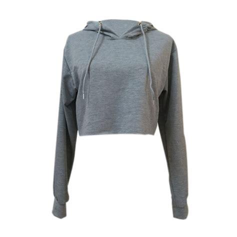 Sweater Hoodie Top sweatshirt jumper sweater crop top coat sports pullover tops hooded hoodie