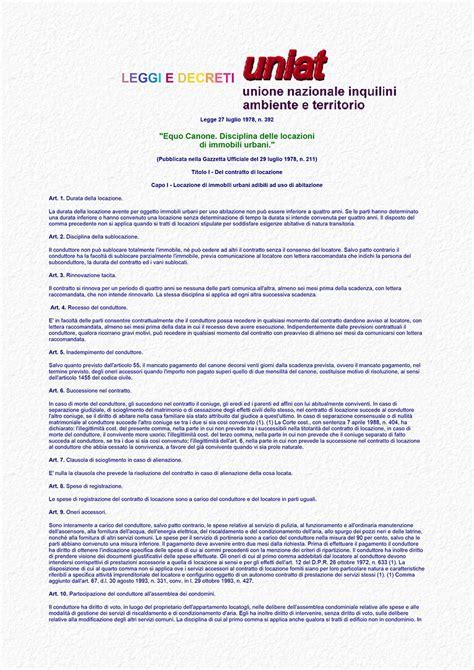 legge 392 78 testo aggiornato legge equo canone 292 1978 pdf