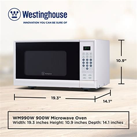 Westinghouse Wcm990w 900 Watt Counter Top Microwave Oven