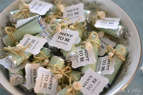 inexpensive bridal shower favors to make quot mint to be quot bridal shower favors i m these up to put on the tables by each place