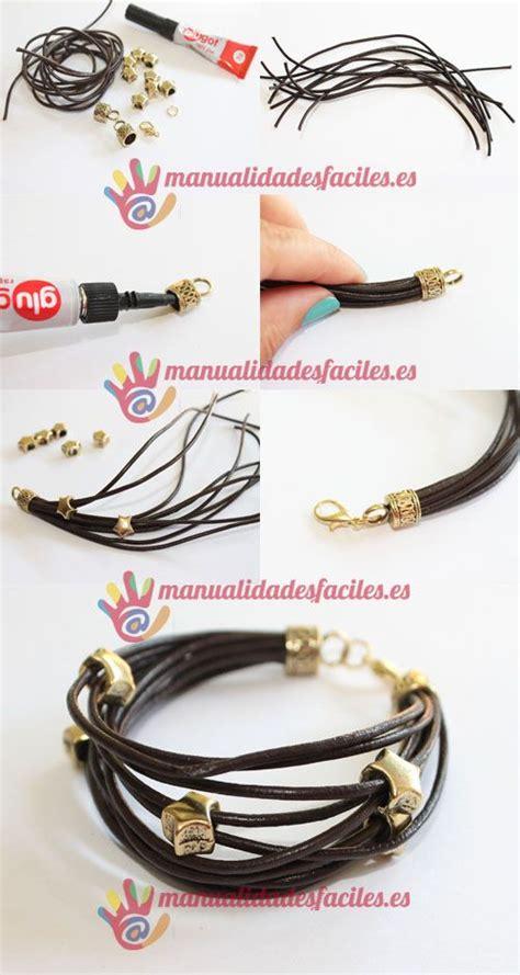 como hacer brazaletes de cuero las 25 mejores ideas sobre cord 243 n de cuero en pinterest y