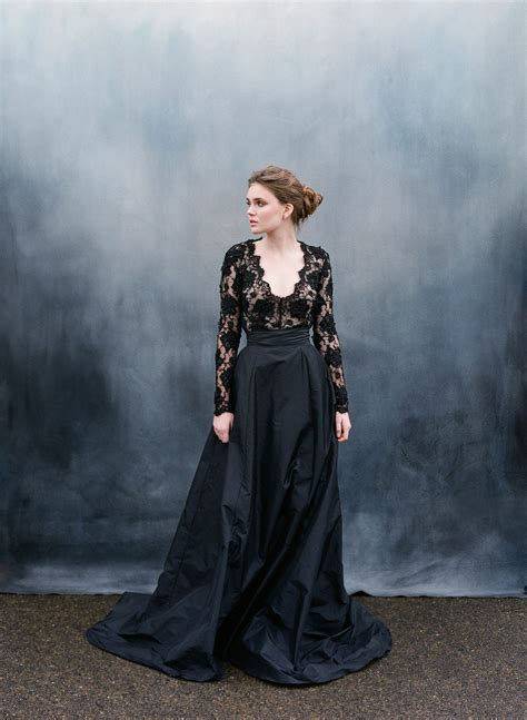 Wedding Black by 30 Of The Most Stunning Black Wedding Dresses Chic