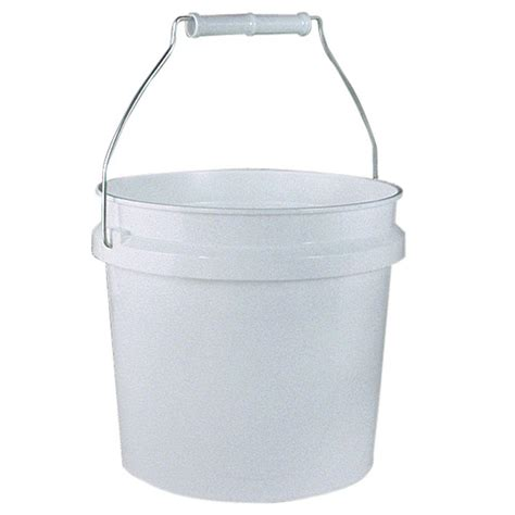 home depot paint lid leaktite 1 gal white plastic pail pack of 3 209314