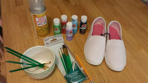 can you use acrylic paint on canvas shoes how to paint canvas shoes ambeemichelle
