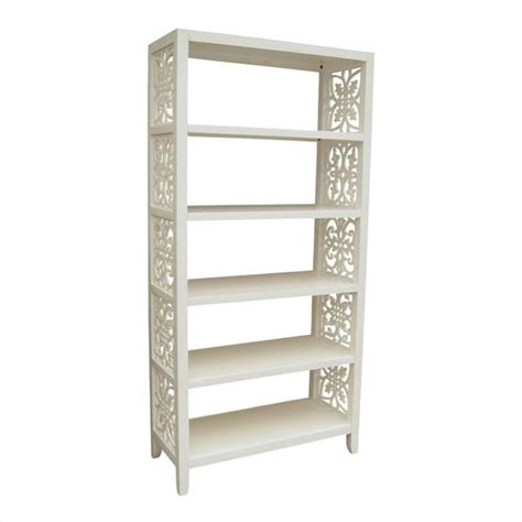 White Etagere Bookcase pulaski accents etagere in painted white 597169