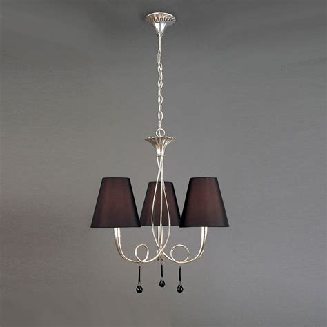silver ceiling lights mantra m0532 3 light silver leaf ceiling fitting
