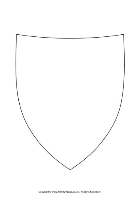 design a st template decorate the shield