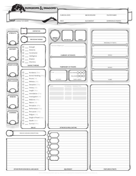 d d 4e card template d d 5e character creation 3 steps