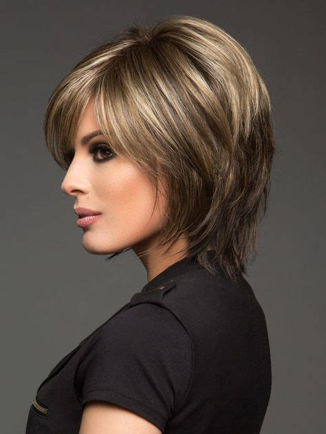 short hairstyles with platüim high lights chocolate frost r rooted dark brown base with honey