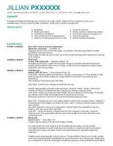 free resume templates bartender nj passaic 3 food and beverage resume exles in point pleasant beach nj livecareer