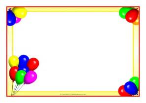 balloon border template free page border clipart best