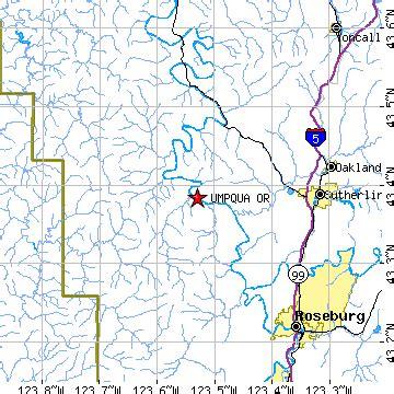 map of oakland oregon umpqua oregon or population data races housing