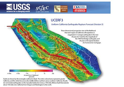 usgs earthquake map california usgs releases new term earthquake forecast for california