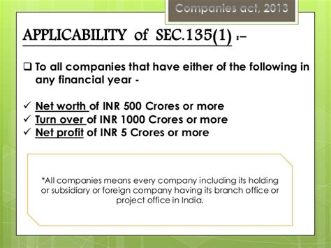 section 135 csr corporate social responsibility in companies act 2013