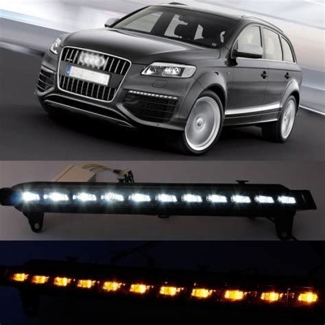 audi q7 led lights led daytime running lights drl with turn signal for audi