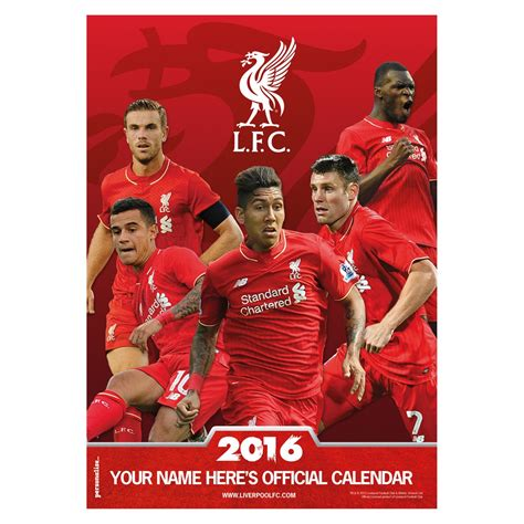 liverpool fc 2016 calendar liverpool fc official store