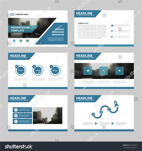 blue abstract presentation templates infographic elements