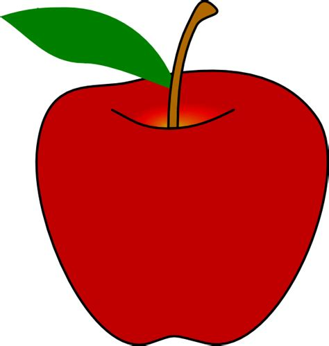 clipart apple apple clip at clker vector clip