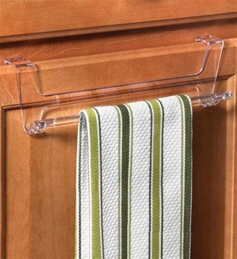 Cabinet Door Towel Rack Cabinet Door Towel Bar Clear In Kitchen Towel Holders