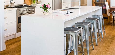 waterfall stone bench tops kitchen benchtops melbourne rosemount kitchens