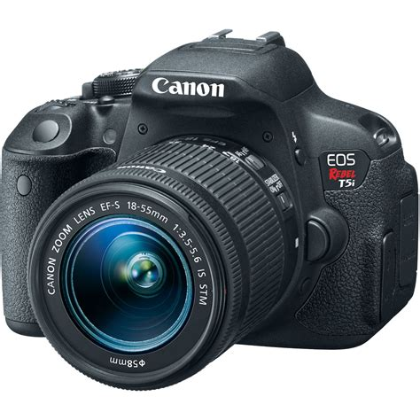 canon eos canon t5i eos rebel dslr with 18 55mm lens 8595b003 b h