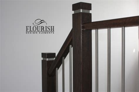 Rustic Bathroom Rugs - the eco newel post contemporary toronto by flourish design elements