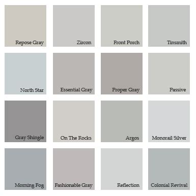 shades of grey paint home design