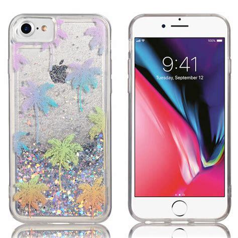 quicksand glitter waterfall transparent case  iphone se